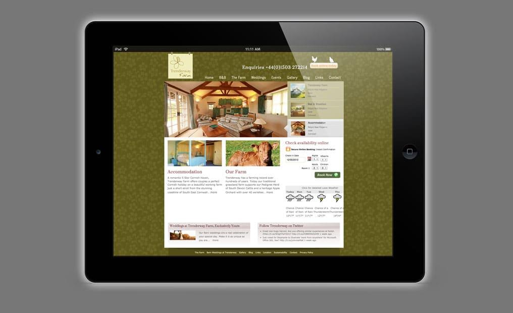Trenderway Farm website